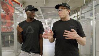 tesla factory tour Elon Musk