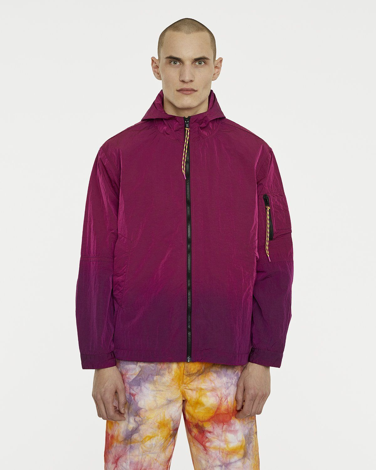 Aries — Ombre Dyed Tech Jacket Fuchsia - Image 3