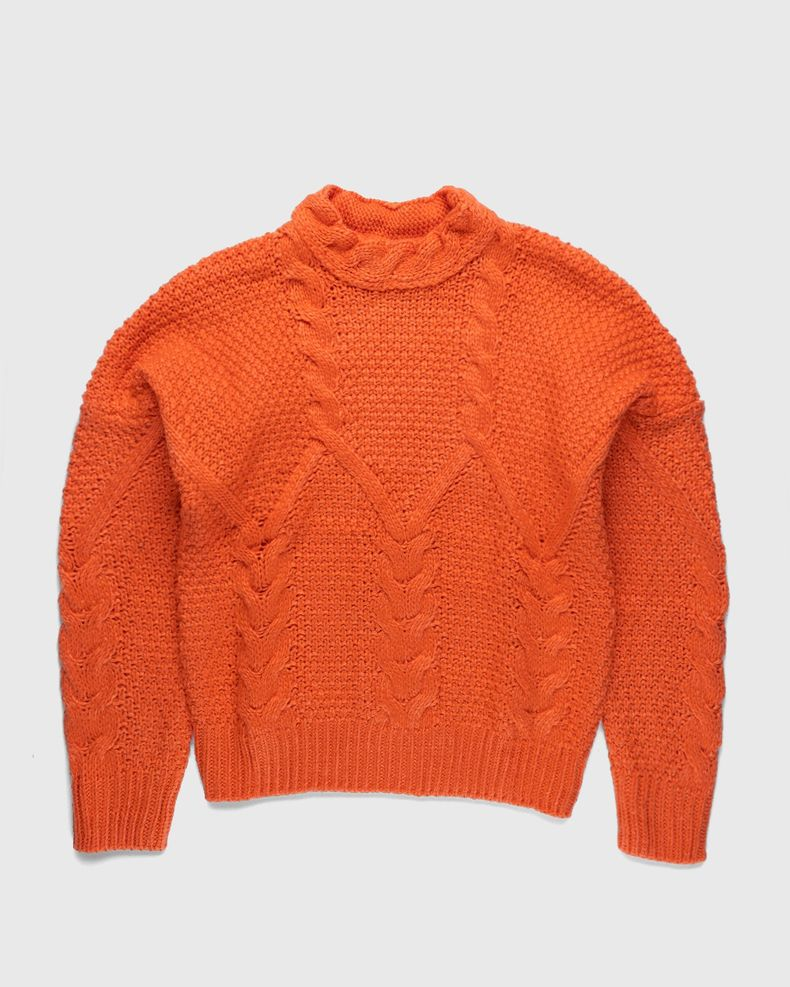 Winnie New York - Intwined Cable Knit Sweater Red