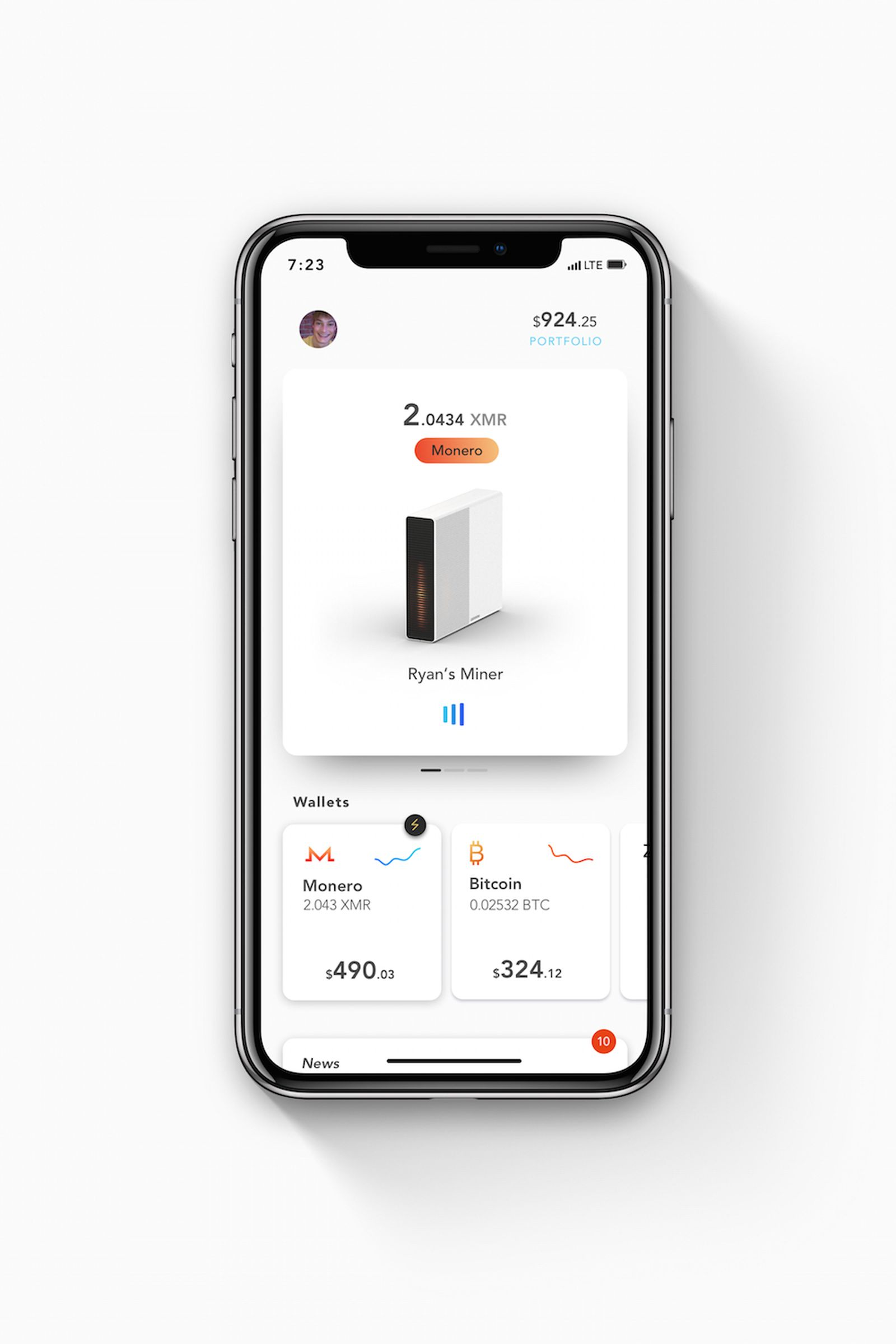 iPhone X Official Mockups by Asylab Coinmine One