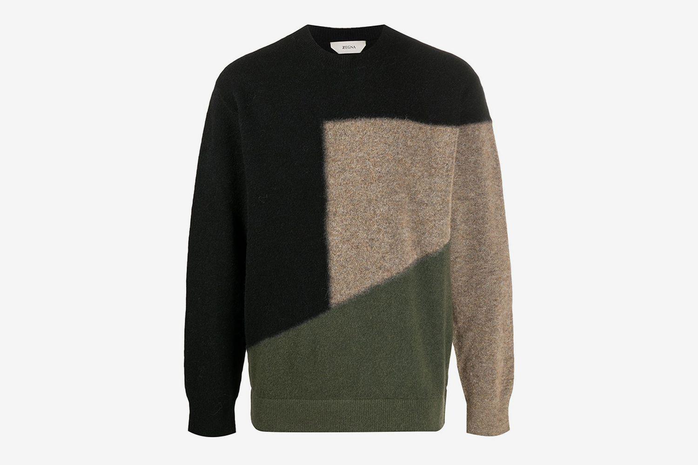 Geometric Wool Jumper