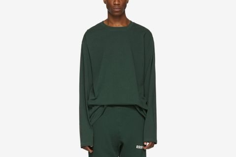 - Green Boxy Long Sleeve T-Shirt