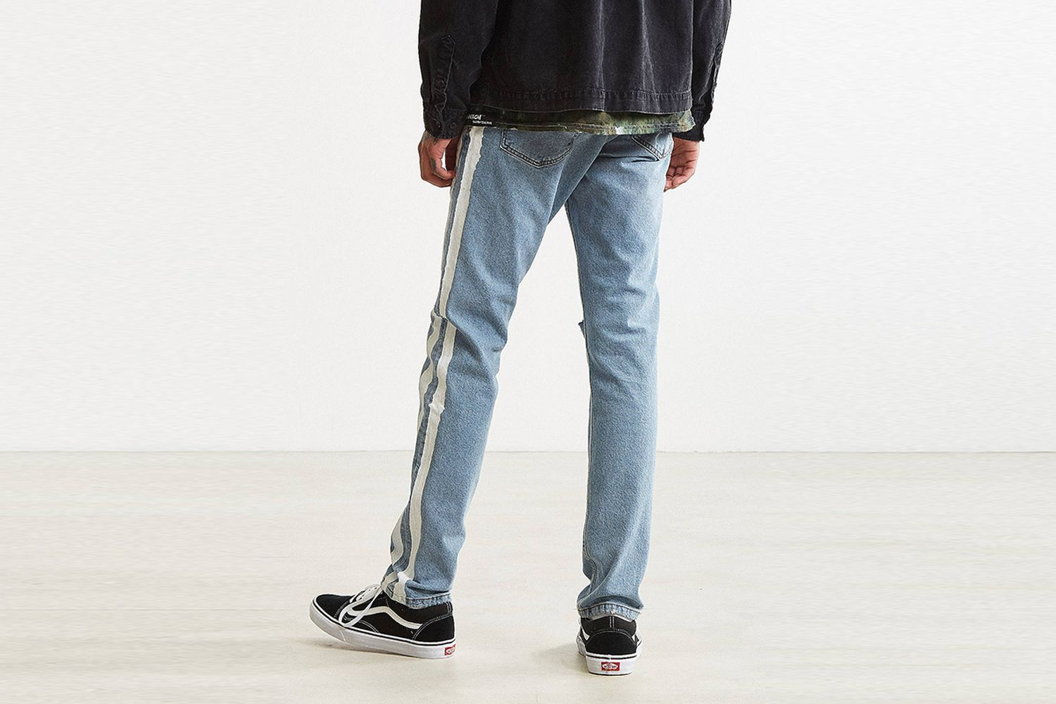 Side Stripe Painted Jeans