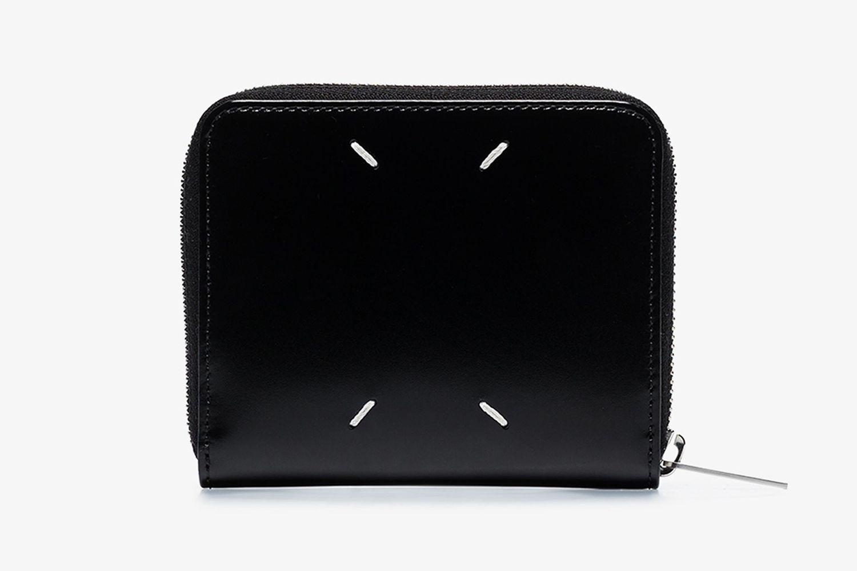 Zip-Around Leather Wallet