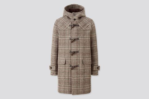 Patterned Double-Faced Duffle Coat