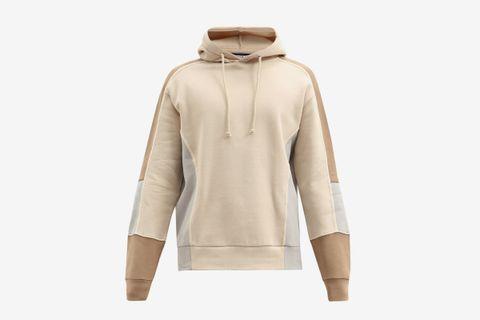 Paneled Cotton-Blend Hooded Sweatshirt
