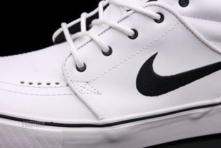 a409c0b58a4b Nike SB Stefan Janoski Mid QS  White Leather