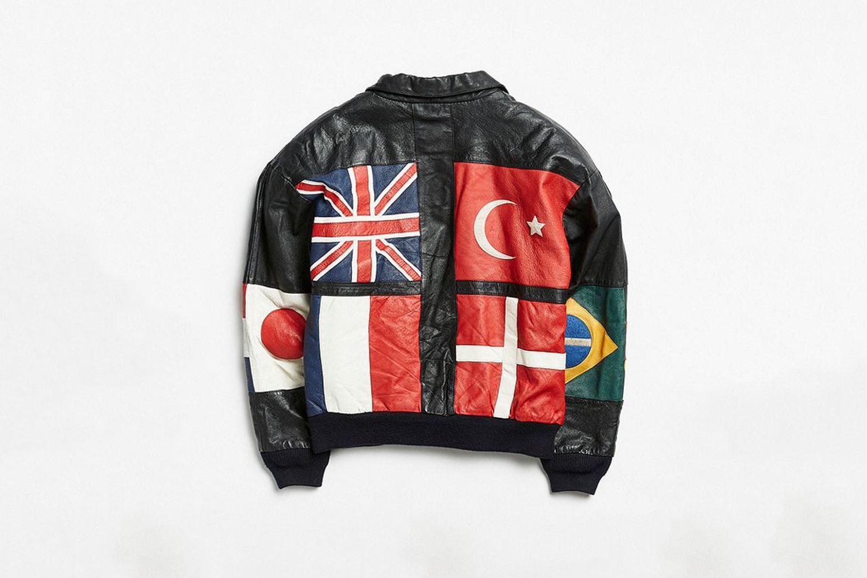 Vintage Leather Bomber