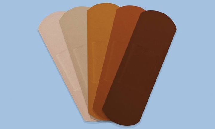 Band-Aids in 5 different skin tones