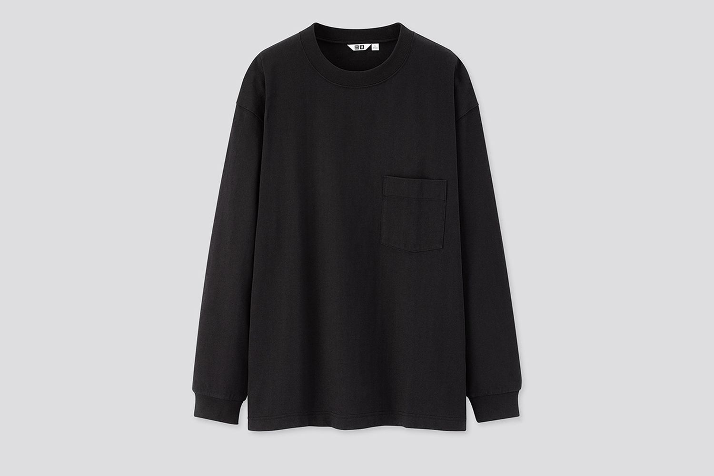Crew Neck Long-Sleeve T-Shirt