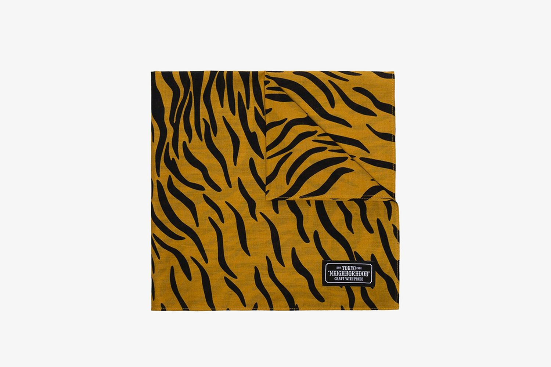 Tiger Stripe Print Scarf