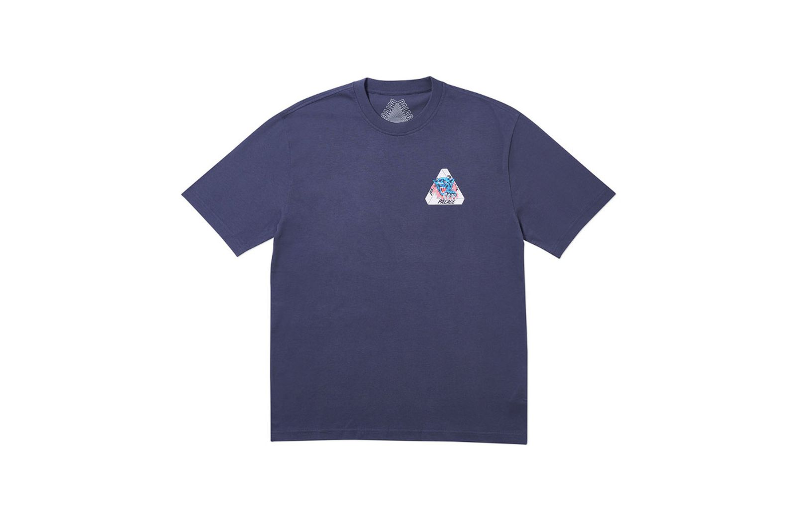 Palace 2019 Autumn T Shirt Ripped navy front