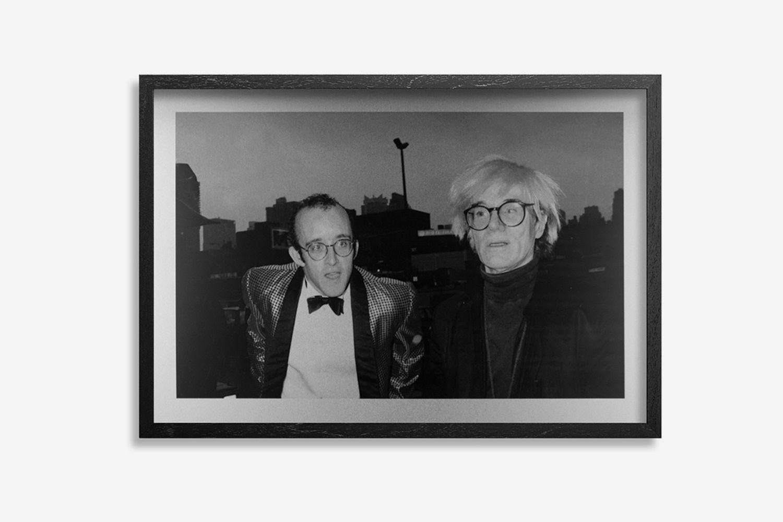 Keith Haring & Andy Warhol. NYC. 1986
