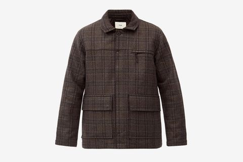 Alber Patch-Pocket Wool-Blend Jacket