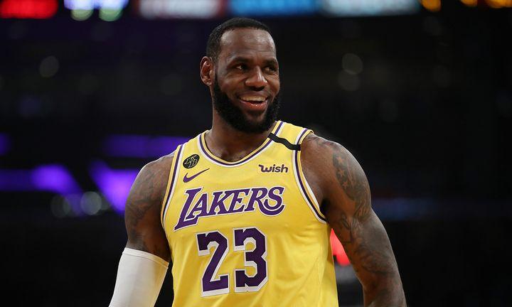 LeBron James smiling