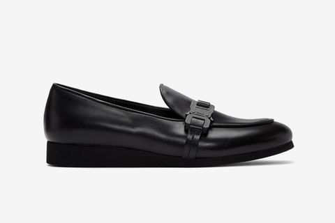 Black St. Marks Buckle Loafers