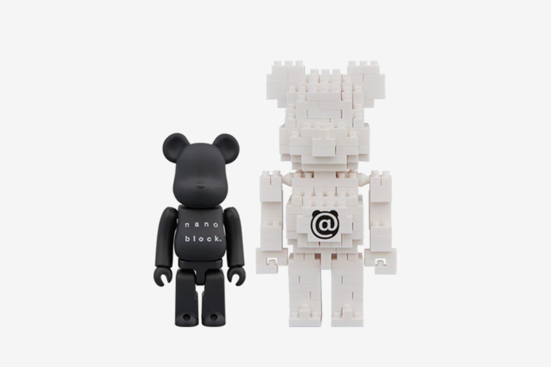 Bearbrick Nanoblock 2 Pack Set B 100%