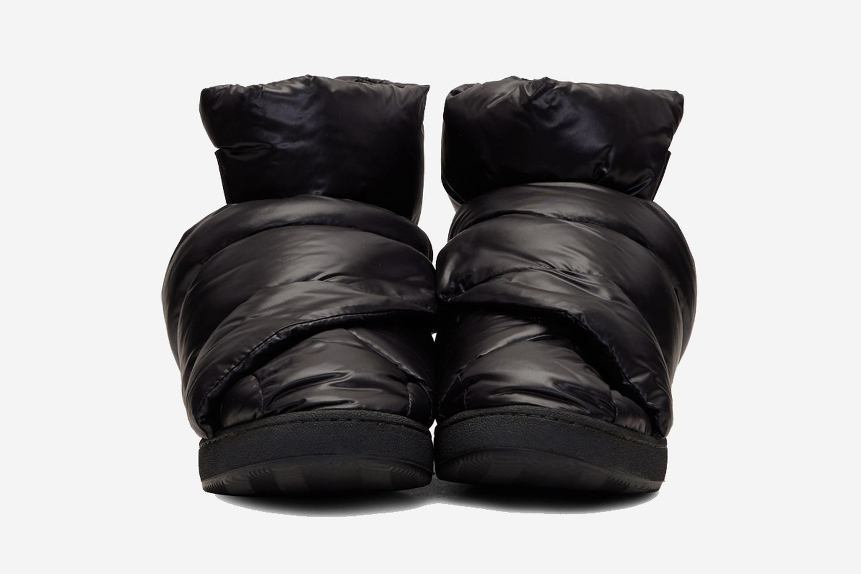 Black Puffer High Top Sneaker