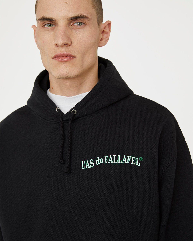 Highsnobiety x L'AS du FALLAFEL — Logo Hoodie Black - Image 3