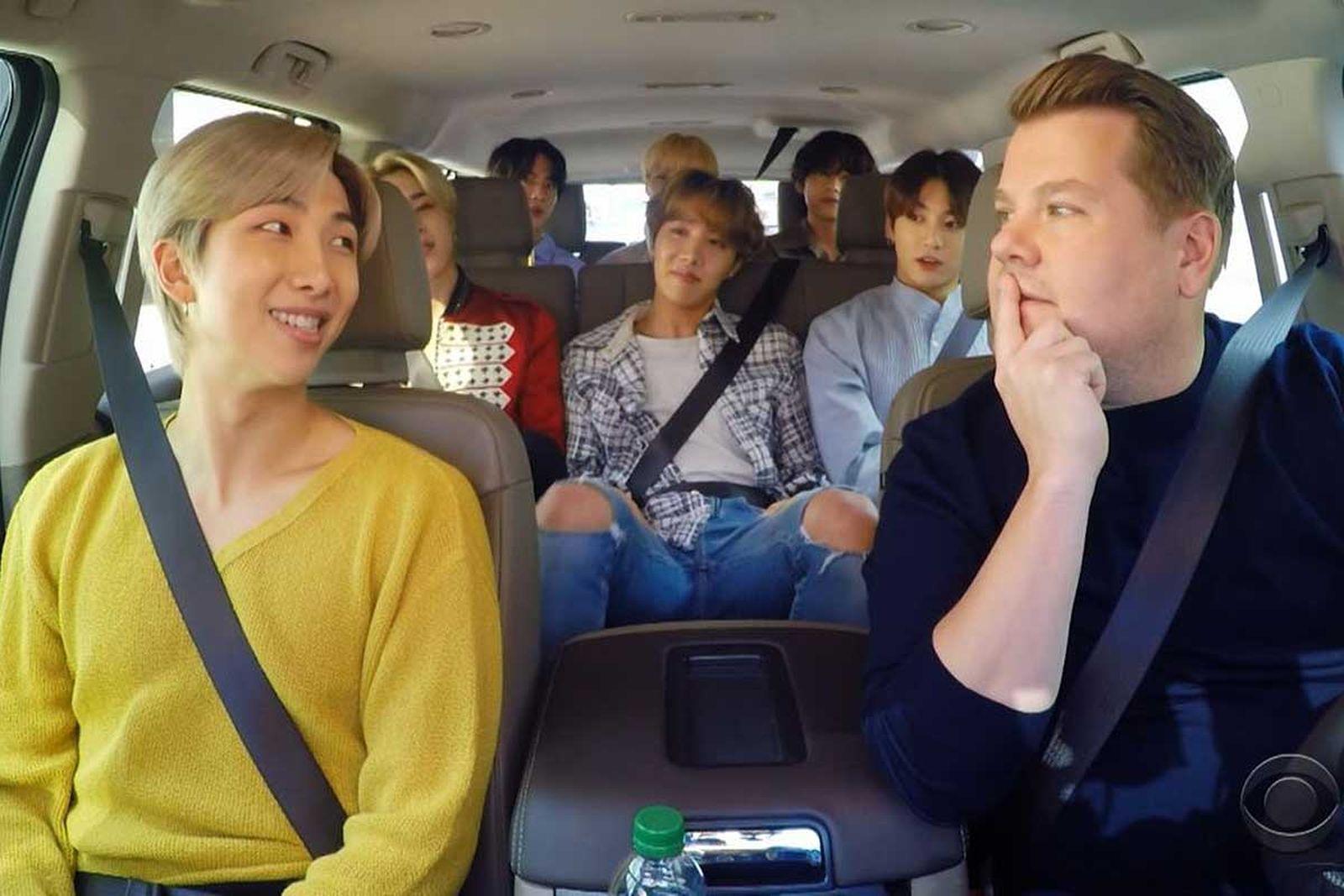 BTS on Carpool Karaoke with James Corden