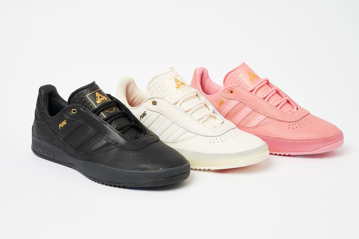 Images of the new adidas x Palace Skateboards PUIG sneaker