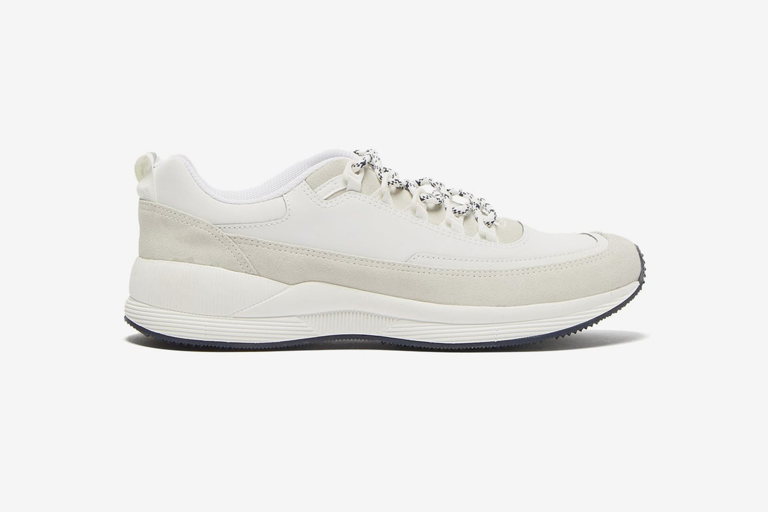 Jay Reflective Suede-Trimmed Trainers