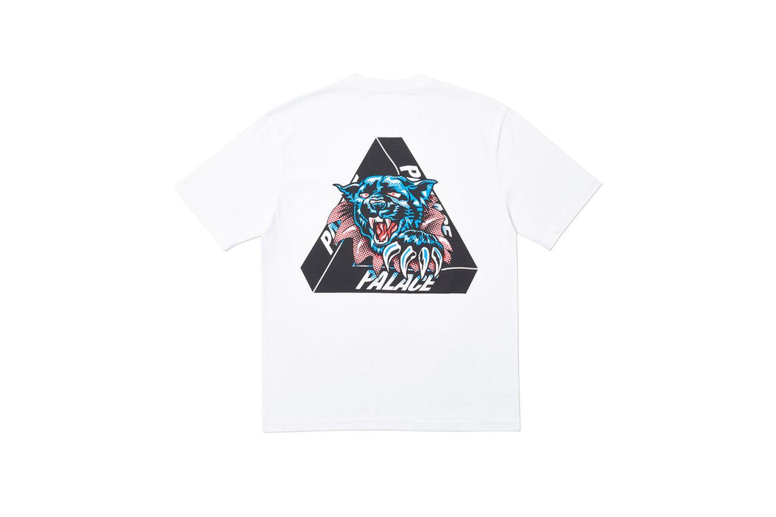 Palace 2019 Autumn T Shirt Ripped white back