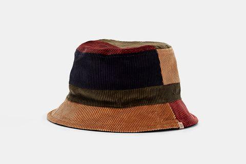 Reversible Cotton Corduroy Bucket Hat