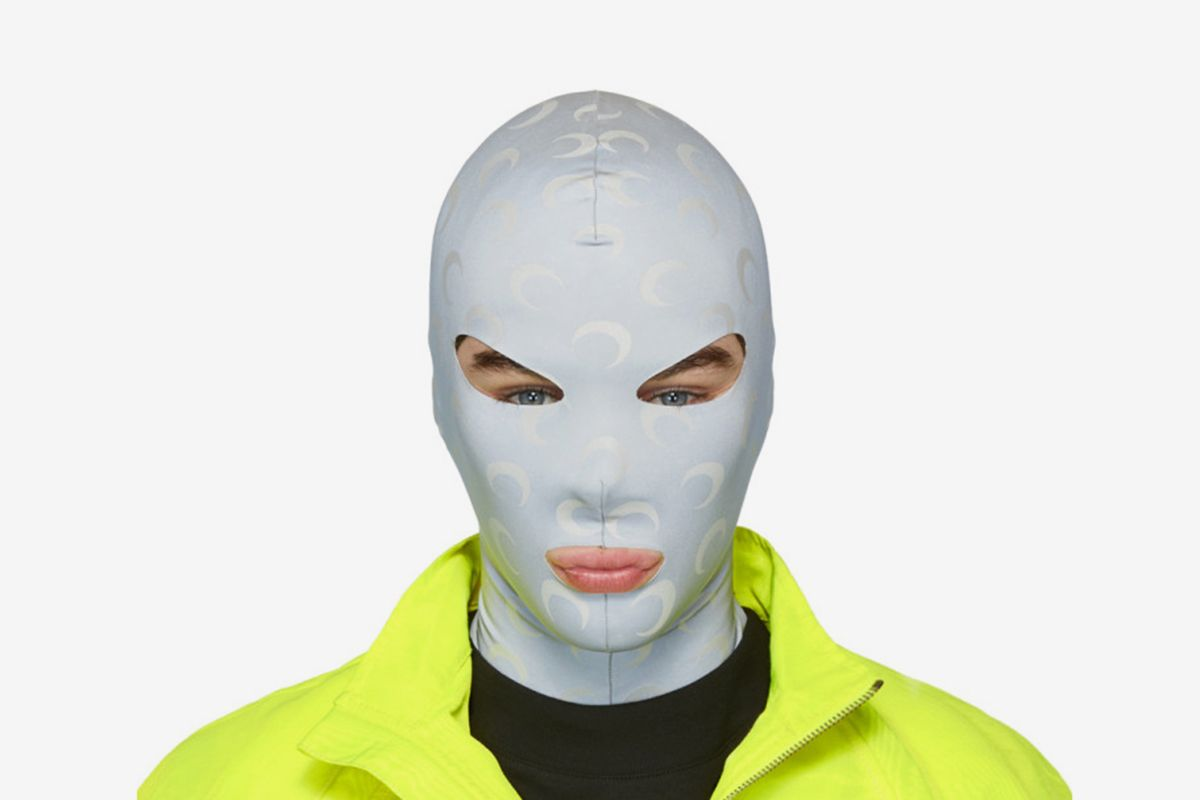 Reflective All Over Moon Face Mask