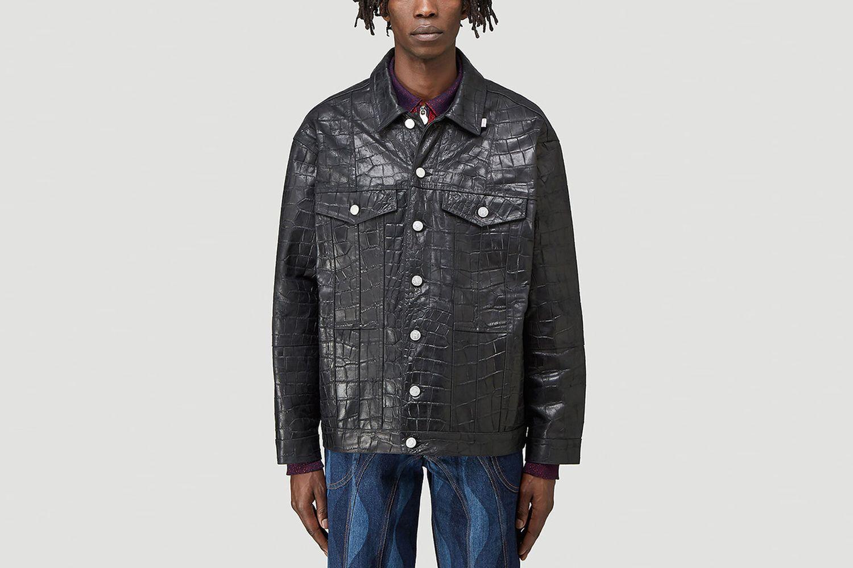 Oversized Embossed Jacket