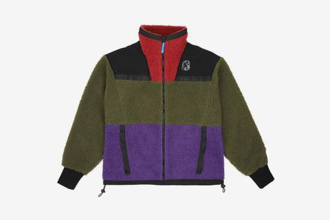 Panelled Sherpa Fleece Zip Through