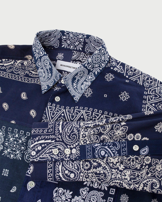 Miyagihidetaka Bandana Shirt Navy  - Image 7