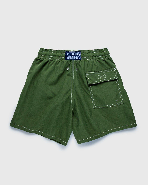 Vilebrequin x Highsnobiety — Logo Shorts Green - Image 2