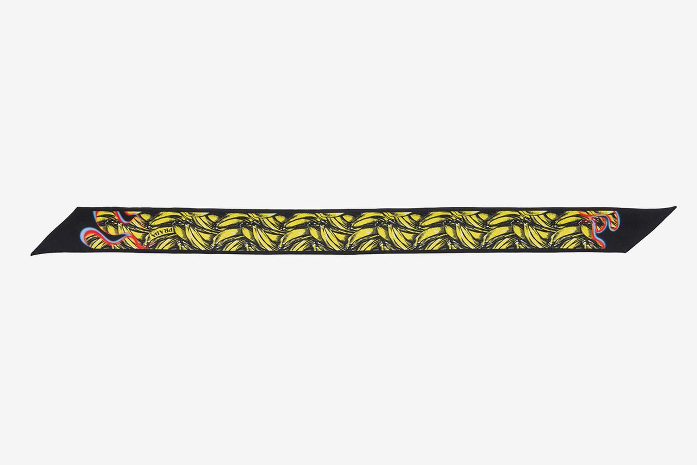 Bananas & Flames Silk Neck Bow