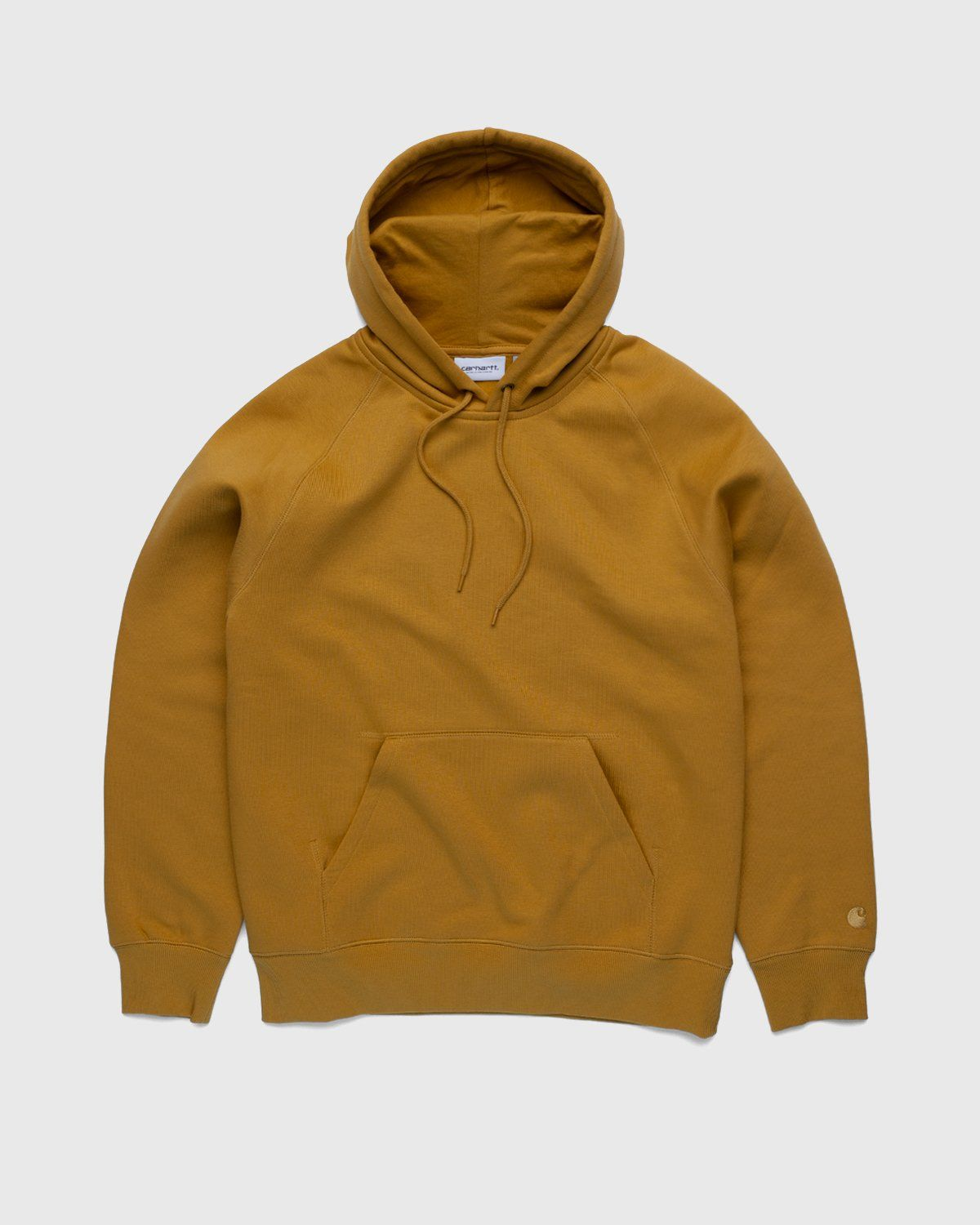 Carhartt WIP – Hooded Chase Sweat Gold - Image 1