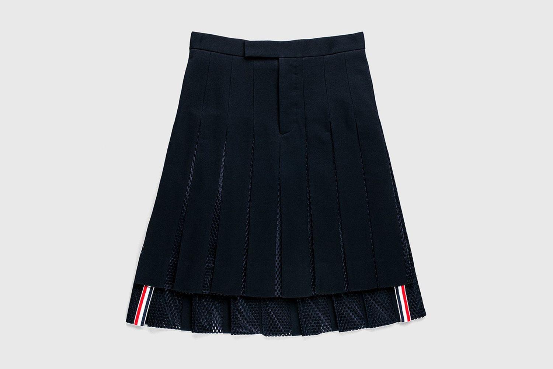 Women's Pleated Mesh Skirt