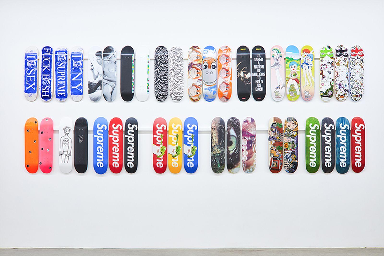 supreme skate deck inferno exhibition