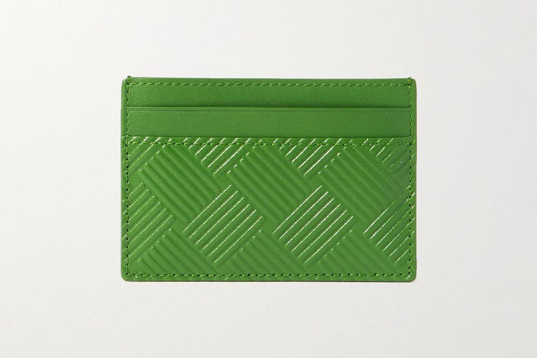 Intrecciato-Embossed Leather Cardholder