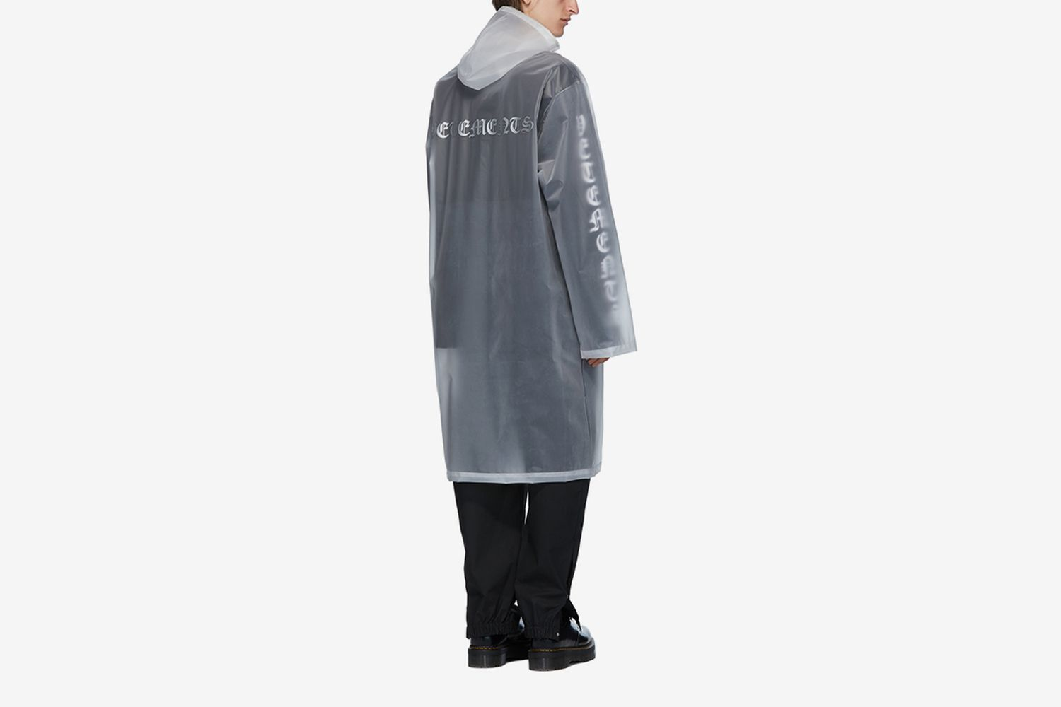 Transparent Hooded Raincoat