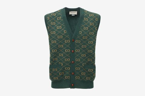 GG Wool Jacquard Sweater Vest