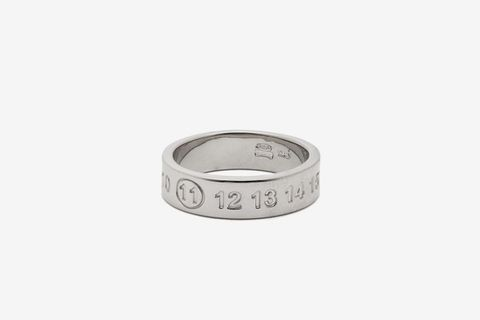 11 Debossed Sterling Silver Ring