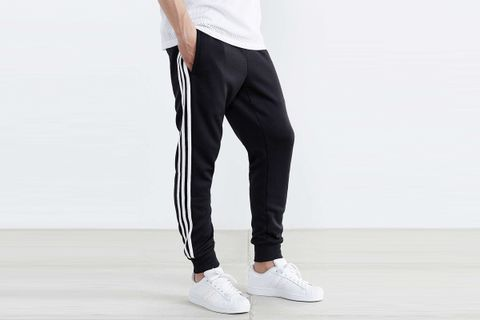 Superstar Cuff Track Pants in Black