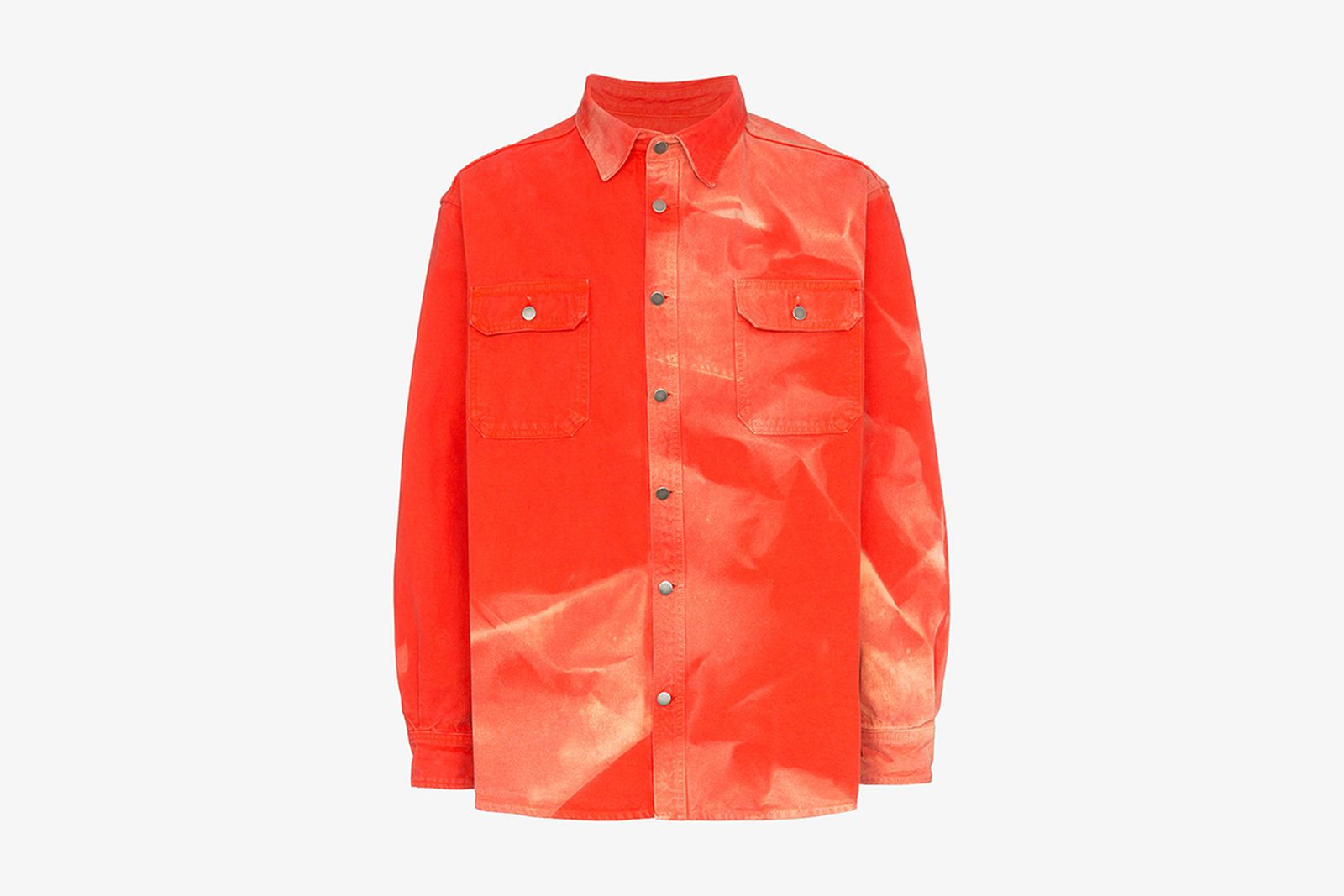 Browns Fashion 424 Fairfax X Armes Bleach Work Shirt tie dye