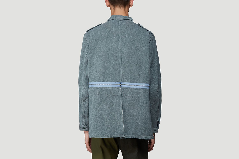 Detachable Hem Denim Jacket