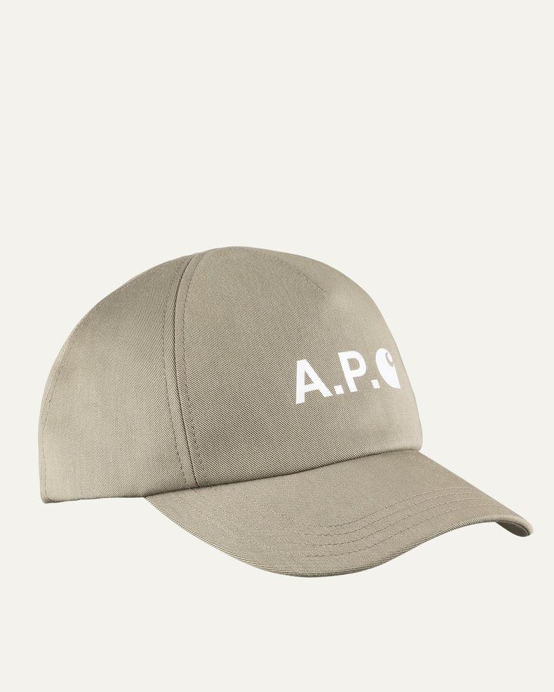 A.P.C. x Carhartt WIP - Cameron Baseball Cap Khaki