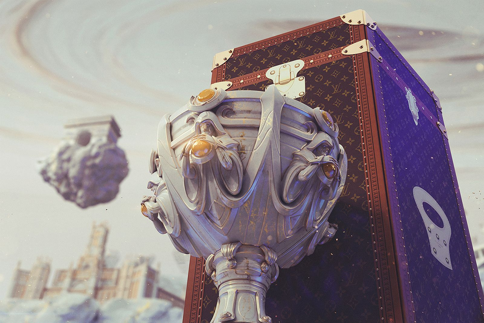 League of legends summoner's cup and Louis Vuitton trunk