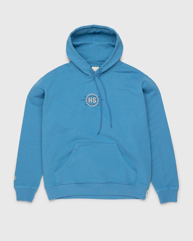 Highsnobiety – Logo Hoodie Blue - Image 1