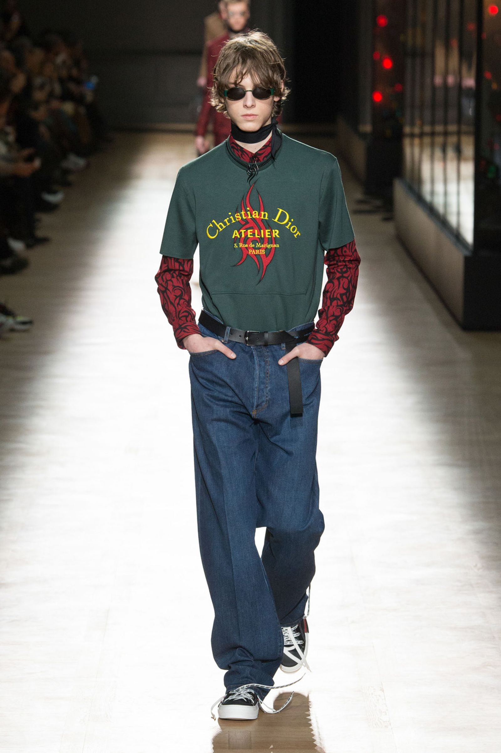 DIOR HOMME WINTER 18 19 BY PATRICE STABLE look27 Fall/WInter 2018 runway