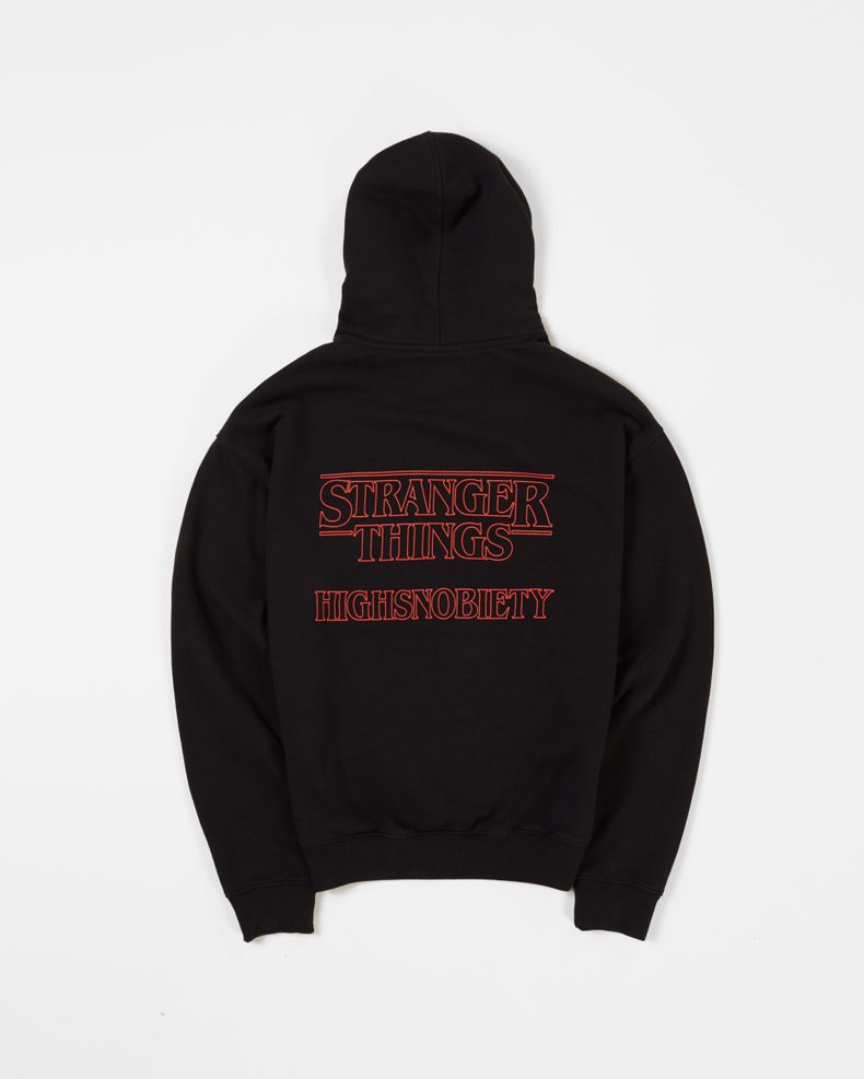 Highsnobiety x Stranger Things —  Logo Hoodie Black