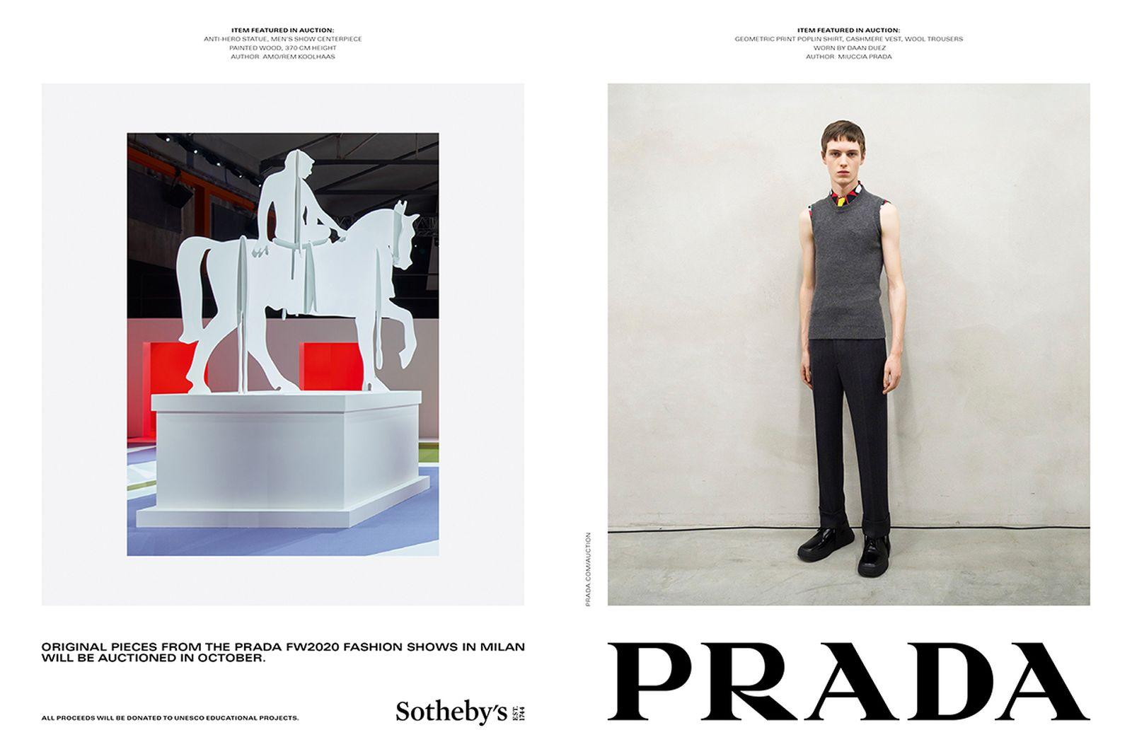 Prada x Sotheby's campaign image